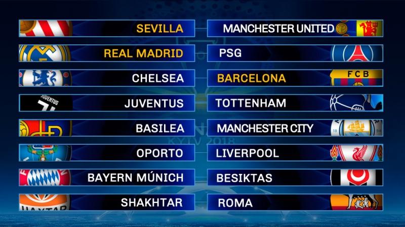 Tre spanska lag har kvalat till åttondelsfinalerna medan det fanns hela fem brittiska klubbar i lottningen.