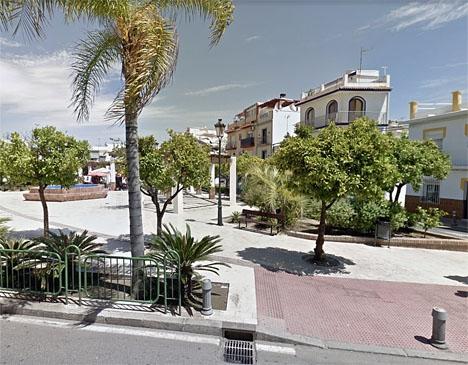Plaza Cantarero i Nerja. Foto: Google Maps