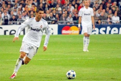 Cristiano Ronaldo gjorde matchens enda mål, i finalen mot Gremio. Foto: Jan S0L0/Wikimedia Commons