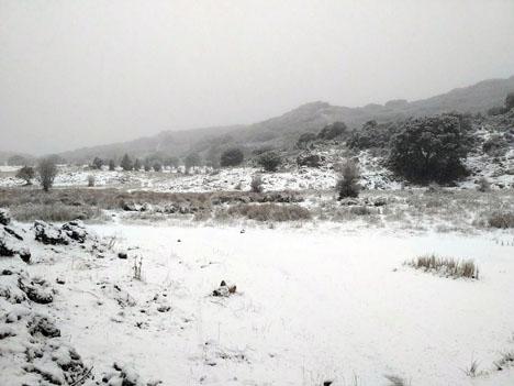 Det blev faktiskt en vit jul på trettondagen så lång söderut som i Ronda. Foto: Isa Ortega Gamarro