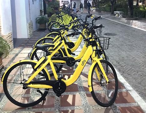 De gula uthyrningscyklarna har inte fått någon önskestart i Marbella.