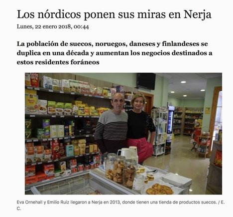 Artikeln i Diario Sur.