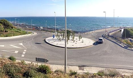 Kroppen hittades på stranden vid Faro de Calaburras.