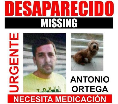 Antonio Ortega försvann med sin hund 22 januari.