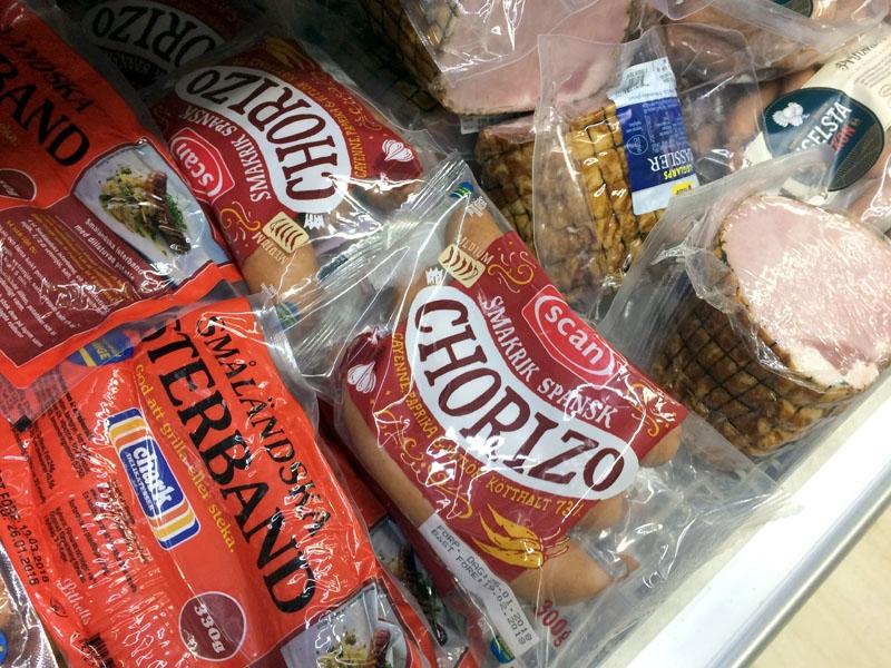 Spansk chorizo köper man företrädesvis i spanska butiker och den här svenska varianten är inte ens värd namnet.