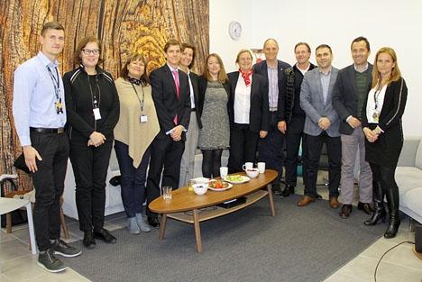 Medlemmar i Svensk-Spanska Handelskammaren fick ett hjärtligt mottagande av Barona i Fuengirola 14 februari.