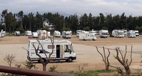 Många nordbor vistas under vinterhalvåret i camping i Andalusien.