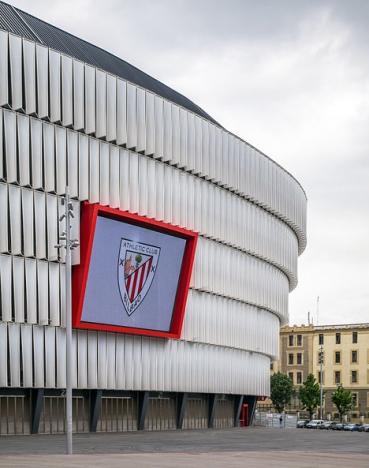 Kravallerna inträffade utanför stadion San Mamés, i Bilbao. Foto: Basotxerri/Wikimedia Commons