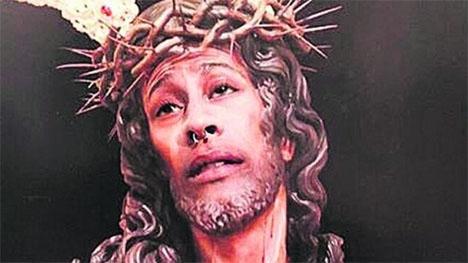 Kristusbilden som ledde till böter. Foto: Instagram