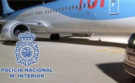 Nationalpolisens eget foto från tillslaget. Foto: Policía Nacional
