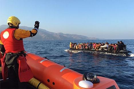 Flera spanska hjälporganisationer arbetar med att undsätta flyktingar i Medelhavet. Foto: Open Arms