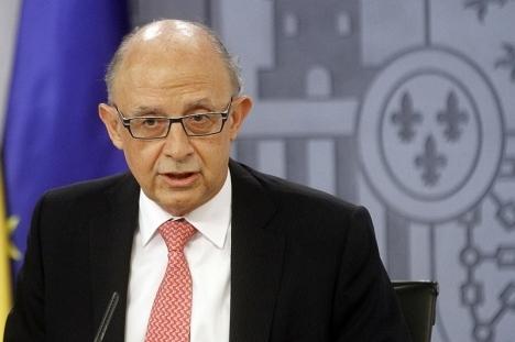 Skatteministern Cristóbal Montoro kan äntligen stoltsera med uppfyllda mål.