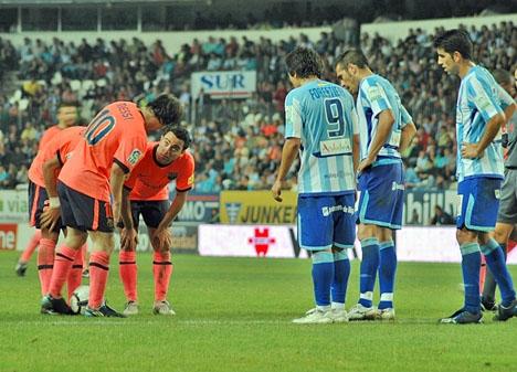 Stjärnor som Messi och Xavi har gästat Rosaledastadion de senaste tio åren, men till hösten tvingas Málaga spela i division två.