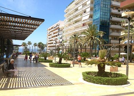 Ett av de nya områden som kommunen vill kamerabevaka är Avenida del Mar.