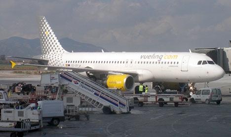 De två första strejkdagarna på Vueling ställs nära 250 flyg in.
