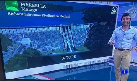 Spanska rikskanalen TVE 1 återgav 25 april ett inslag från SK-tv på bästa sändningstid.