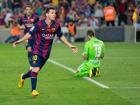 Messi säkrade ligaguldet genom att göra tre av Barcelonas mål mot Deportivo La Coruña. Foto: L.F.Salas/Wikimedia Commons