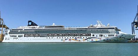 Kryssningsfartyget Norwegian Star ska lägga till i Málaga 17 gånger i år.
