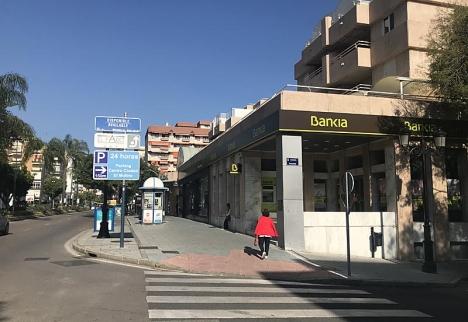 Bankias kontor i Marbella ligger på huvudgatan Ricardo Soriano.