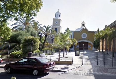 Kyrkan i San Pedro Alcántara där skottdramat inträffade. Foto: Google Maps