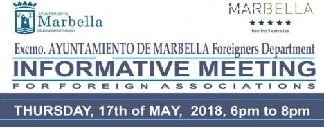 Mötet hålls 17 maj i kongresspalatset i Marbella.