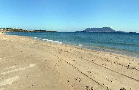 Dramat inträffade vid stranden Getares, utanför Algeciras. Foto: Google Maps