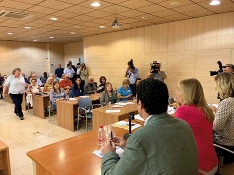 Ett 50-tal representanter för olika utlänningsföreningar i Marbella slöt 17 maj upp till ett möte med borgmästaren Ángeles Muñoz.