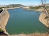 Vår vandring leder till en annan vattenreservoar, ovanför El Chorro.