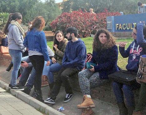 Studenter vid universitetet i Málaga.