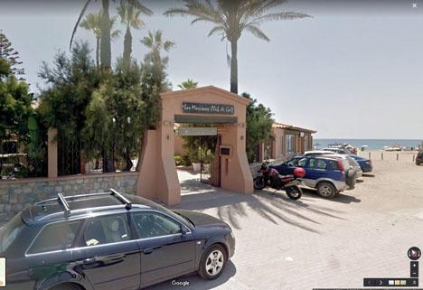 Golfbanan Los Moriscos har tills vidare endast tio hål öppna. Foto: Google Maps