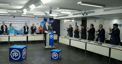 Mariano Rajoy fick stående applåder när han 5 juni annonserade att han lämnar partiledarposten.