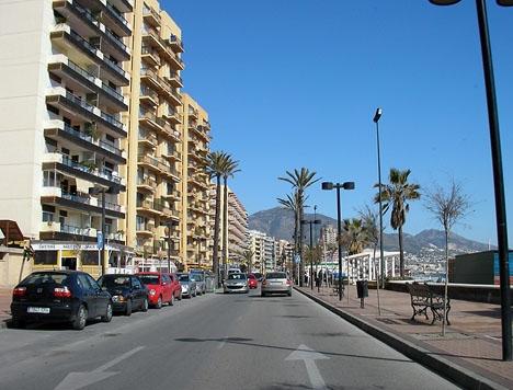 Händelsen inträffade på strandpromenaden i Fuengirola 31 maj.