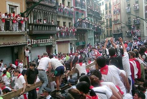 Övergreppet som ledde till domar på nio års fängelse vardera inträffade under San Fermín 2016. Foto: Bernard bill5/Wikimedia Commons