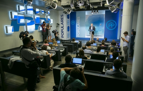 Ordföranden i valberedningen Luis de Grandes förkunnade resultaten på kvällen 5 juli.