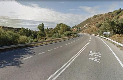 Vägen mellan Ojén och Marbella. Foto: Google Maps