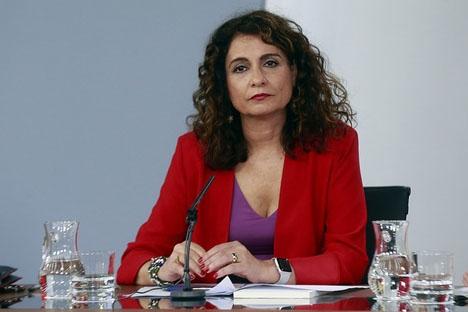 Skatteministern María Jesús Montero får det tufft att utforma  budgetpropositionen för nästa år.