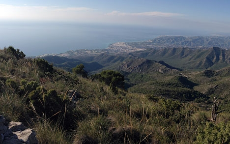 Pico del Cielo-leden går strax norr om Nerja.