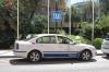 I Marbella attackerades flera bilar från Cabify under strejken och två passagerare skadades.