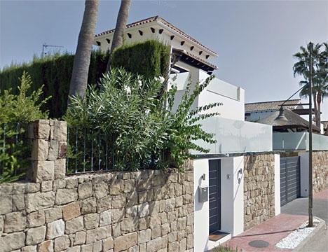 Villan utanför vilken dådet inträffade. Foto: Google Maps