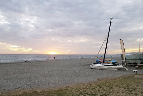 Playa de la Cagadilla, mellan Motril och Salobreña. Foto: Google Maps