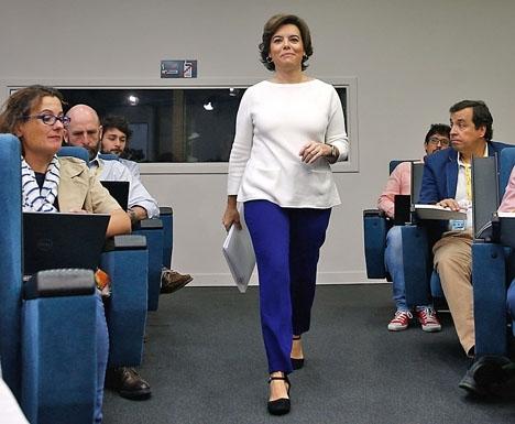 Soraya Sáez de Santamaría vill ej ingå i den nya PP-styrelsen och lämnar alla politiska uppdrag.
