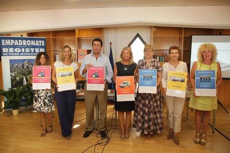 Borgmästaren Ángeles Muñoz vid presentationen av den nya mantalsskrivningskampanjen. Foto: Ayto de Marbella
