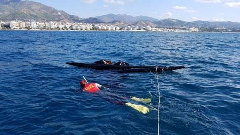 Båten hittades cirka två sjömil utanför Hotel Melia Don Pepe. Foto: Ayto de Marbella