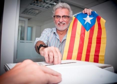 Den olagliga folkomröstningen i Katalonien 1 oktober förra året ledde sedermera till den ensidiga självständighetsförklaringen och upplösningen av regionalstyret 27 oktober. Foto: Assemblea.cat