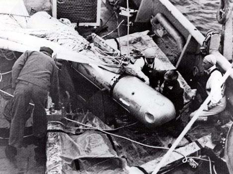 Olyckan vid Palomares 1966 är den mest kända atomincidenten i Spanien men det finns ytterligare fem områden som är radioaktivt förorenade. Foto: U.S. Navy image/Wikimedia Commons