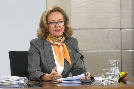 Finansministern Nadia Calviño.