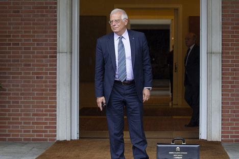 Spaniens utrikesminister Josep Borrell är själv från Katalonien, men ihärdig motståndare till självständighetsrörelsen.