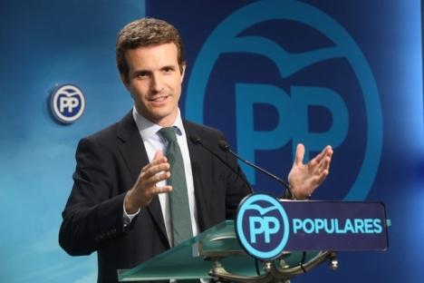 PP-ledaren Pablo Casado har en ganska uråldrig världsbild, för att vara så pass ung. Foto: PP Comunidad de Madrid/Wikimedia Commons
