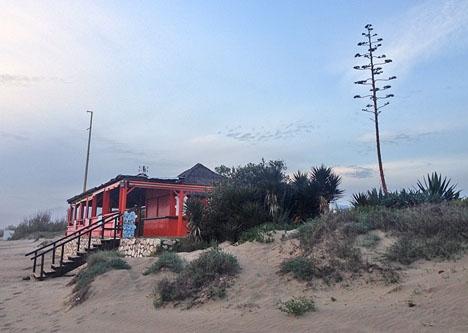 Strandrestaurang i östra Marbella.