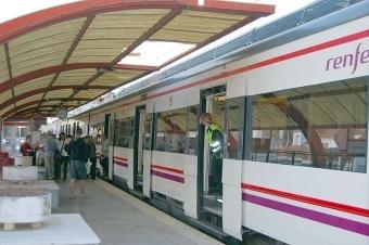 Lokaltågen på Costa del Sol har hälften så många avgångar, på grund av strejken.